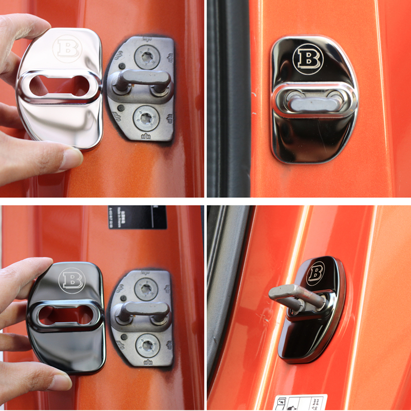 Door-Lock-Cover Car-Accessories Logo Smart 451 BRABUS For Decorative Anti-Rust-Protective-Cover