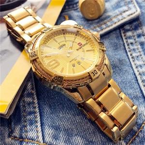 Image 3 - NAVIFORCE Luxury Brand MensกีฬานาฬิกาFull STEEL Quartzนาฬิกาผู้ชายวันที่นาฬิกากันน้ำrelogio masculino