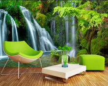 Beibehang Custom Wallpaper Home Decorative Fresco Waterfalls Water Landscape TV Wall Background mural 3d wallpaper