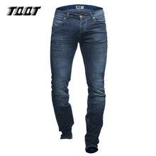 TQQT männer jeans gerade schwergewicht jeans plaid ganzkörperansicht slim jeans reißverschluss dark waschen gebeizt stretch jean 5P0604