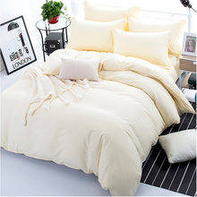 Beige Color Duvet Cover Sets For Single Double Bed Kids Adults 6 Sizes 100% Cotton Bedding Sets XF644-8(China)