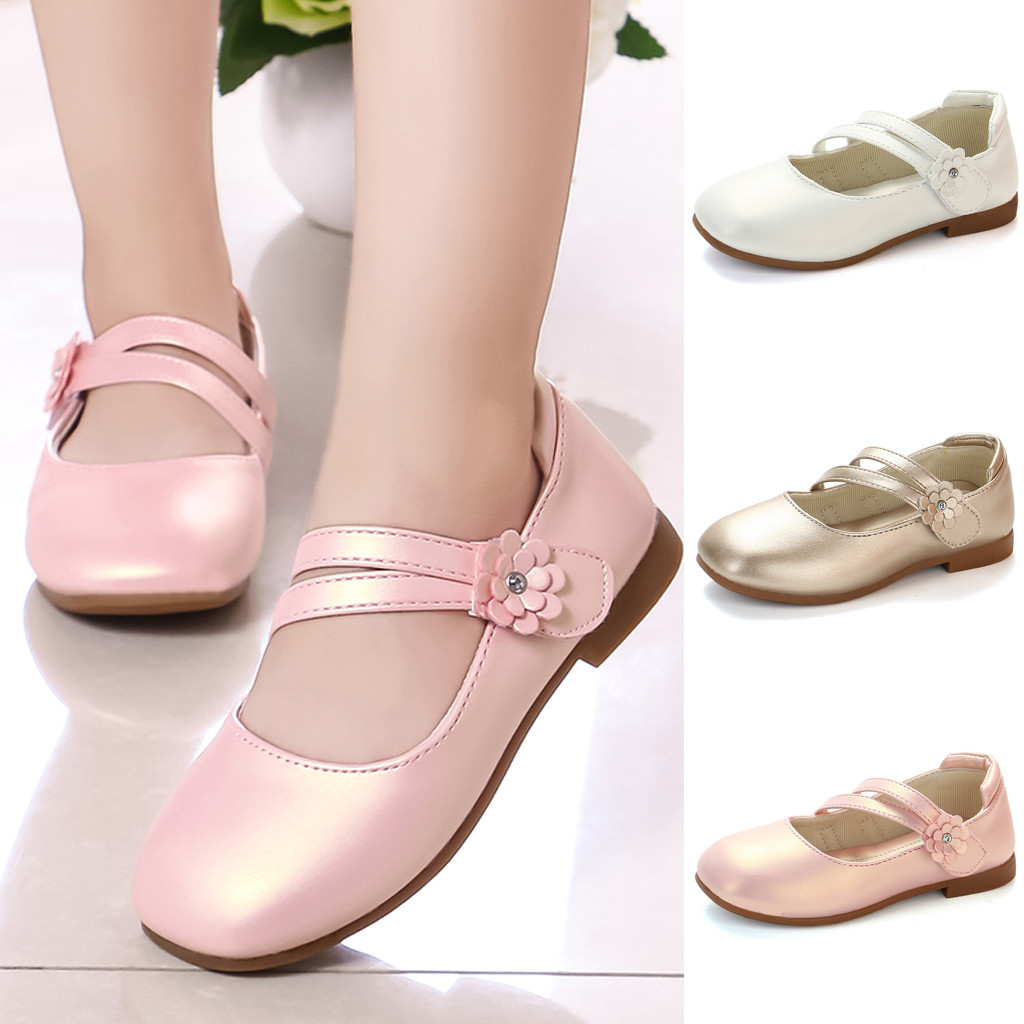 ZHDAOR W#4 2019 Fashion Casual Toddler Kid Baby Girl Flower Leather Single Princess Party Dancing Shoes Sandal Hot Free Shipping