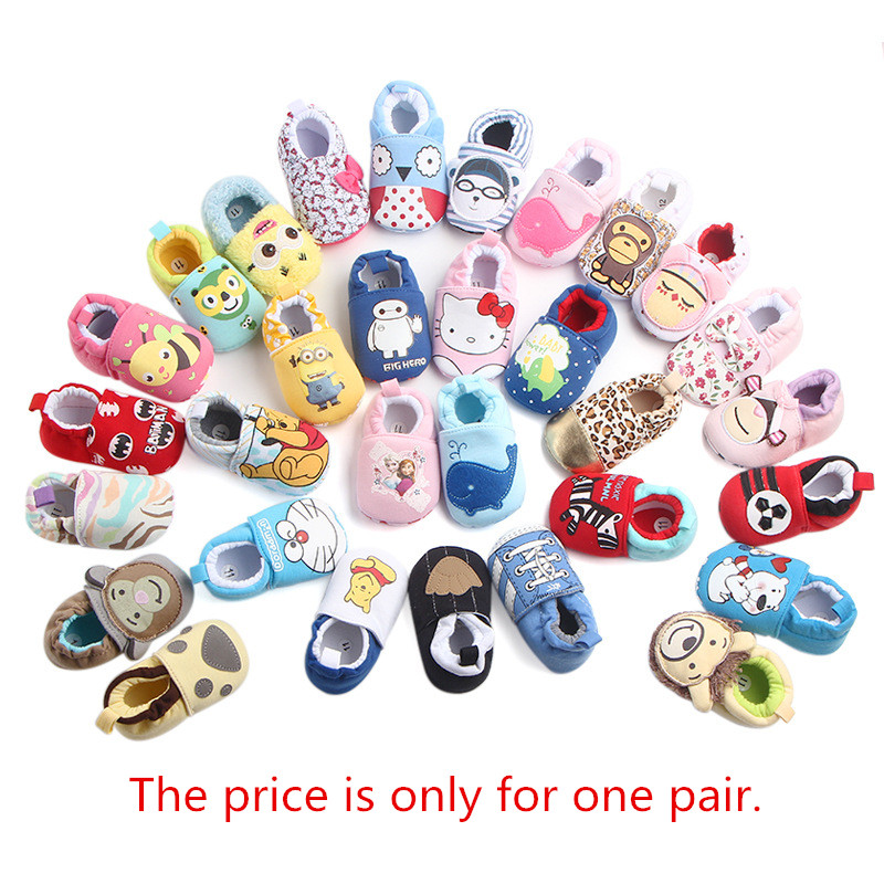 Baby Shoes First Walkers Newborn Baby Boy Girls Shoes Booties Cartoon Soft Sole Anti-slip Toddler Crib Fashion Shoes For Kids 49