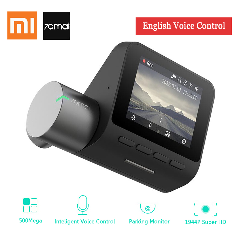 лучшая цена 70mai Dash Cam Pro 1944P HD WiFi Car DVR English Voice Control Camera 140 Degree FOV Auto Video Recorder Defog ADAS Night Vision