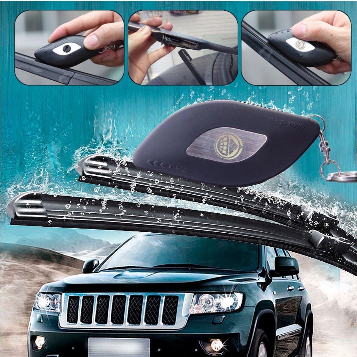 Car Windscreen Windshield Wiper Repair Tool Blade Rubber Strip Windscreen Wiper Restorer Universal Black Vehice