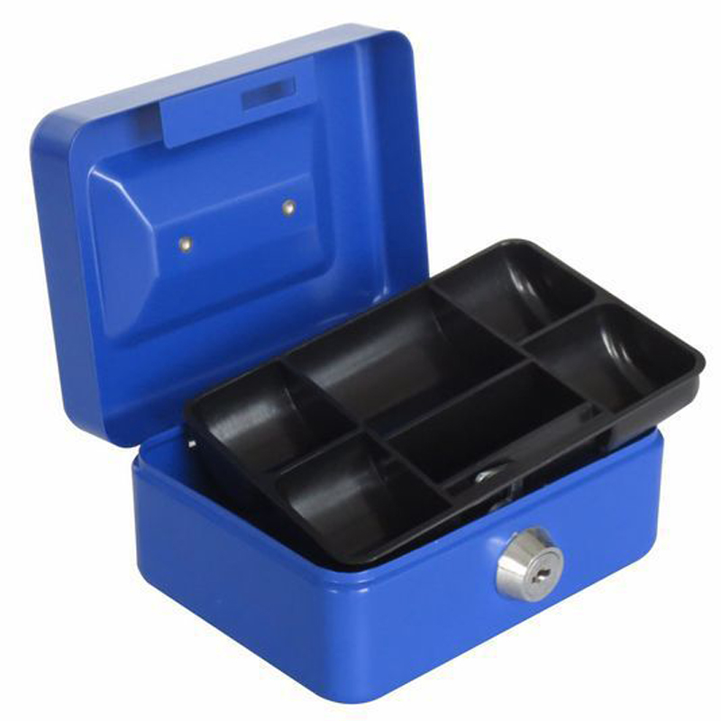 Portable Safe Box Money Jewelry Storage Collection Box For Home School Office With Compartment Tray Lockable Security Box Size M free shipping mini portable steel petty lock cash safe box for home school office market lockable coin security box