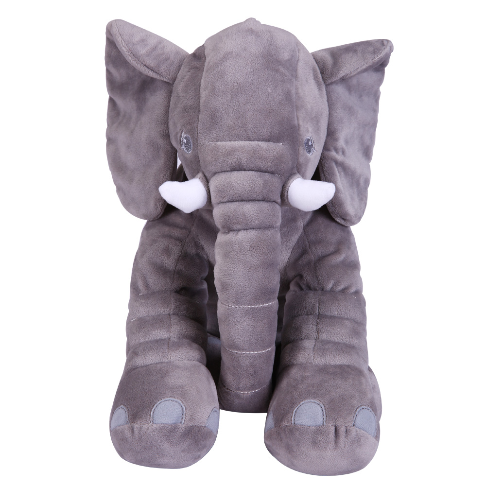 Baby Animal Elephant Doll Babies Stuffed Elephant Plush Pillow Kids Plush Toy Children Room Bed Decoration Toys Bebe Sleeping  high quality crocodile elephant pillow cute animal shape cotton cushion cartoon baby children pillow kids toy free shipping
