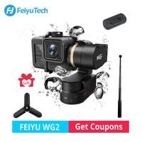Feiyu WG2 Wearable Mountable 3 axis Waterproof Gimbal Stabilizer for GoPro 6 4 5 Session YI 4K SJCAM AEE Action Camera skiing