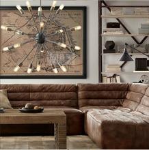 20 Head Loft Sputnik Chandelier American Warehouse Light Living Room Dining Lights With Eedison