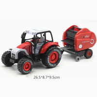 1 24 Alloy Pull Back Car Mini Simulation Module Toys Combination Set Truck Farm Tractor With