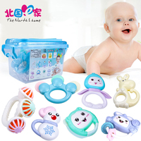0 12 Months Teether Rattles Baby Toys Ball Toy Rattles Develop Baby Intelligence Lovely Funny Baby