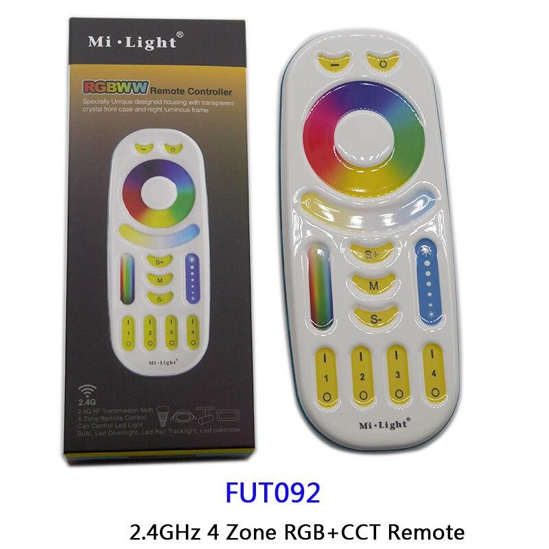 Купить с кэшбэком GU10 MR16 4W RGB+CCT LED Spotlight AC110V 220V 2.4G Remote controller FUT103/FUT104/FUT089/FUT092/B8/B4/T4/iBox1/iBox2