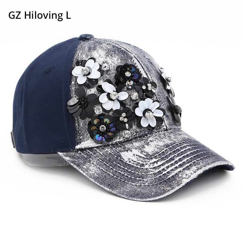 100% Wahr Gzhilovingl 2018 Neue Frühjahr Mode Frauen Blume Diamant Baumwolle Baseball Cap Hut Metallica Hip Hop Snapback Caps Hüte Für Frauen Attraktive Designs;
