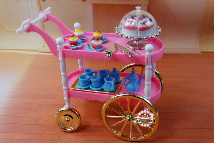 free shipping children play toys girls birthday gift cake car accessories for barbie dollfurniture