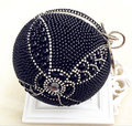 2015 New Luxury Women Globe Shape Design Pearl Evening Bag Diamond Totem Fashion Clutch Famous Messenger Bags Party Purse 420x