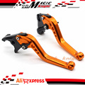For KAWASAKI ZZR 1100/1200 ZR-X 1100/1200 ZX7R ZX900 Motorcycle Accessories CNC Billet Aluminum Short Brake Clutch Levers Orange