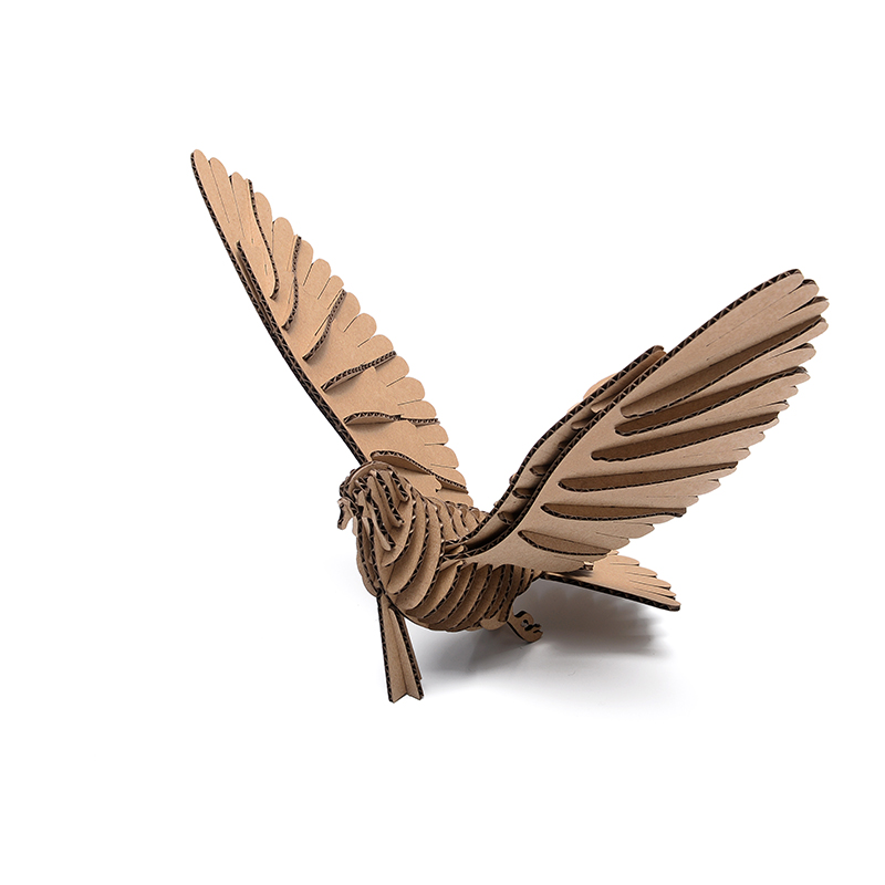aliexpresscom buy 3d puzzle bird model paper craft kids diy cardboard animal papercraft art educational toys children game creative birthday gifts from