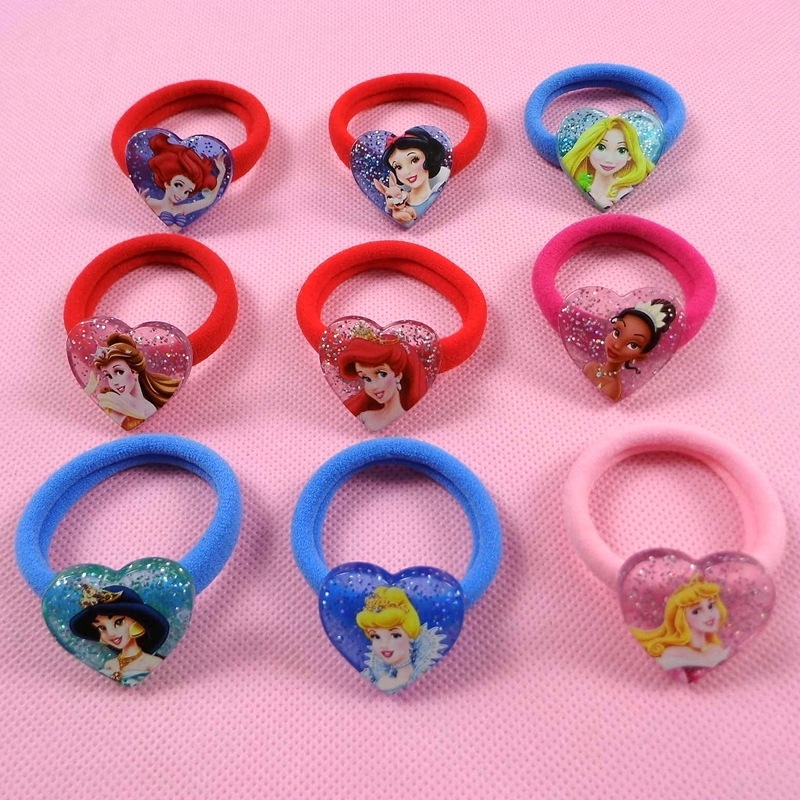 Self-Conscious 2pcs/lot Frozen 2019 New Doll Accessories Cartoon Headdress Snow White Hair Ring Rubber Band Hair Ring Children Gift Selected Material Dolls & Stuffed Toys
