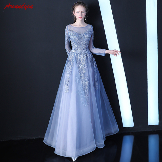 407145eeabd Long Sleeve Mother of the Bride Dresses for Weddings Sexy Evening Gowns  Groom Godmother Dinner Dresses 2018