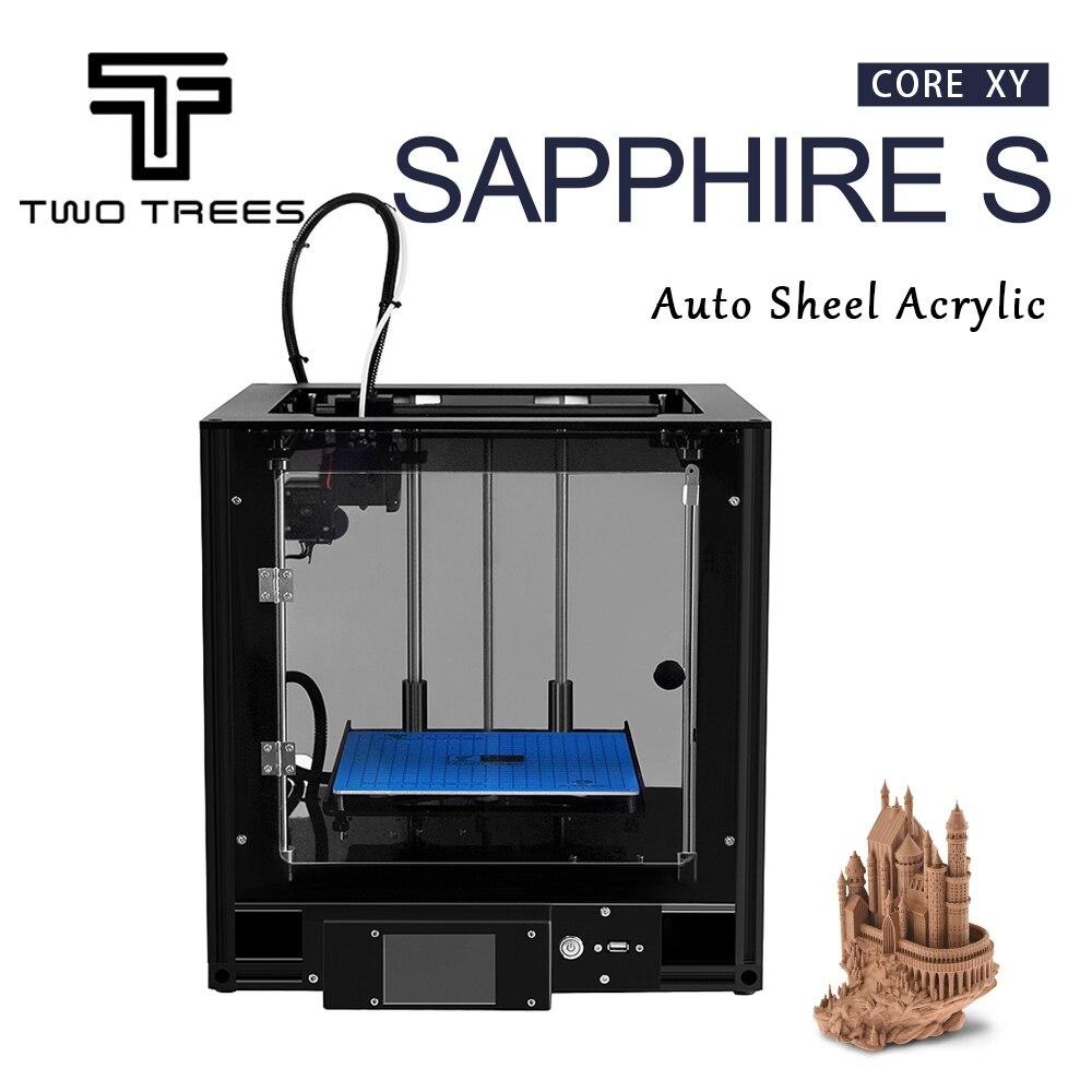 Image 5 - Impresora 3D de dos árboles, zafiro de alta precisión, nivelación automática, marco de perfil de aluminio, Kit de DIY estampado Core XY structureImpresoras 3D   -
