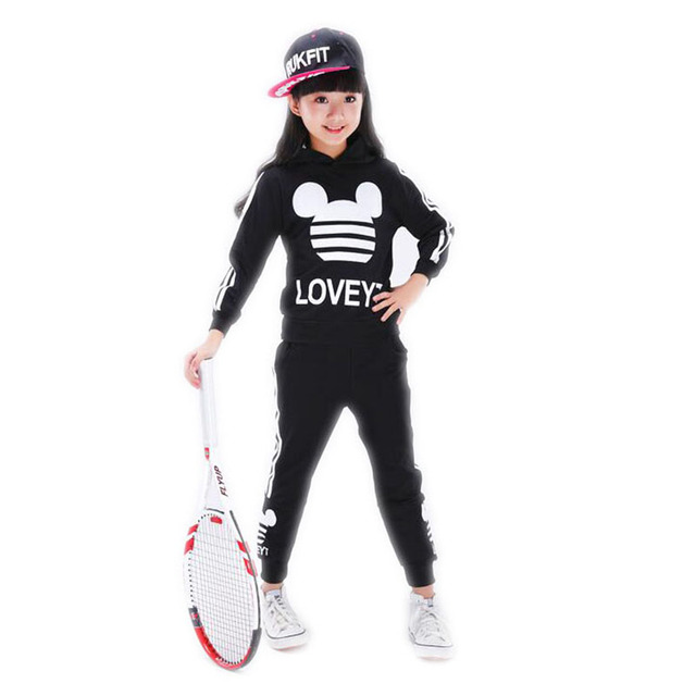 Girls sports suit Spring autumn children's clothing Boys and girls sports piece fitted Cotton big virgin suit children autumn