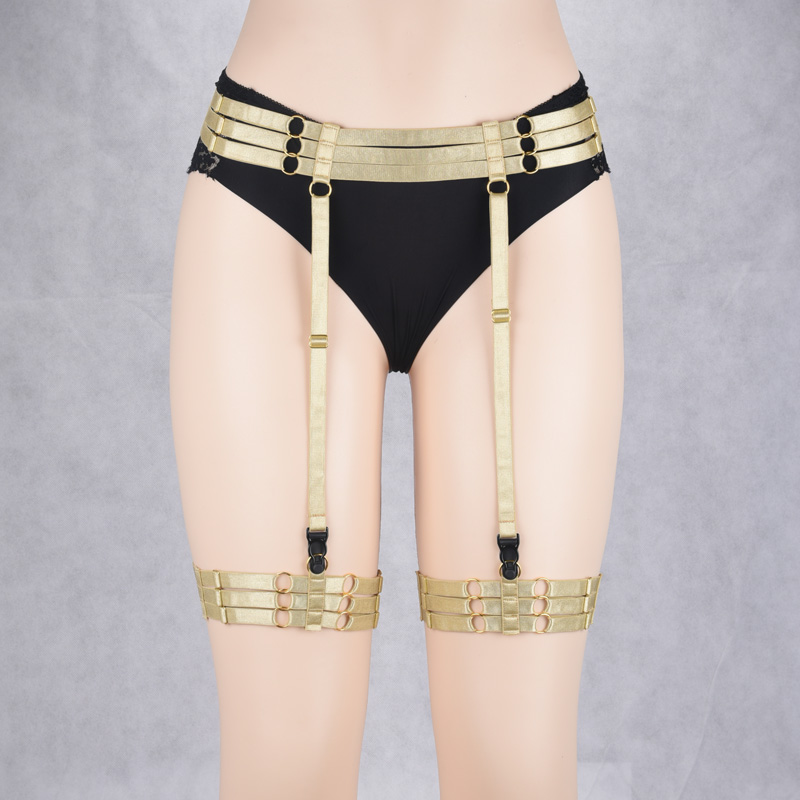 Jlx.harness Harajuku Lingerie Sexy Hot Erotic Harness Belts Bondage Lingerie Suspender Belt Gothic Punk Style Body Harness Leg Women's Intimates