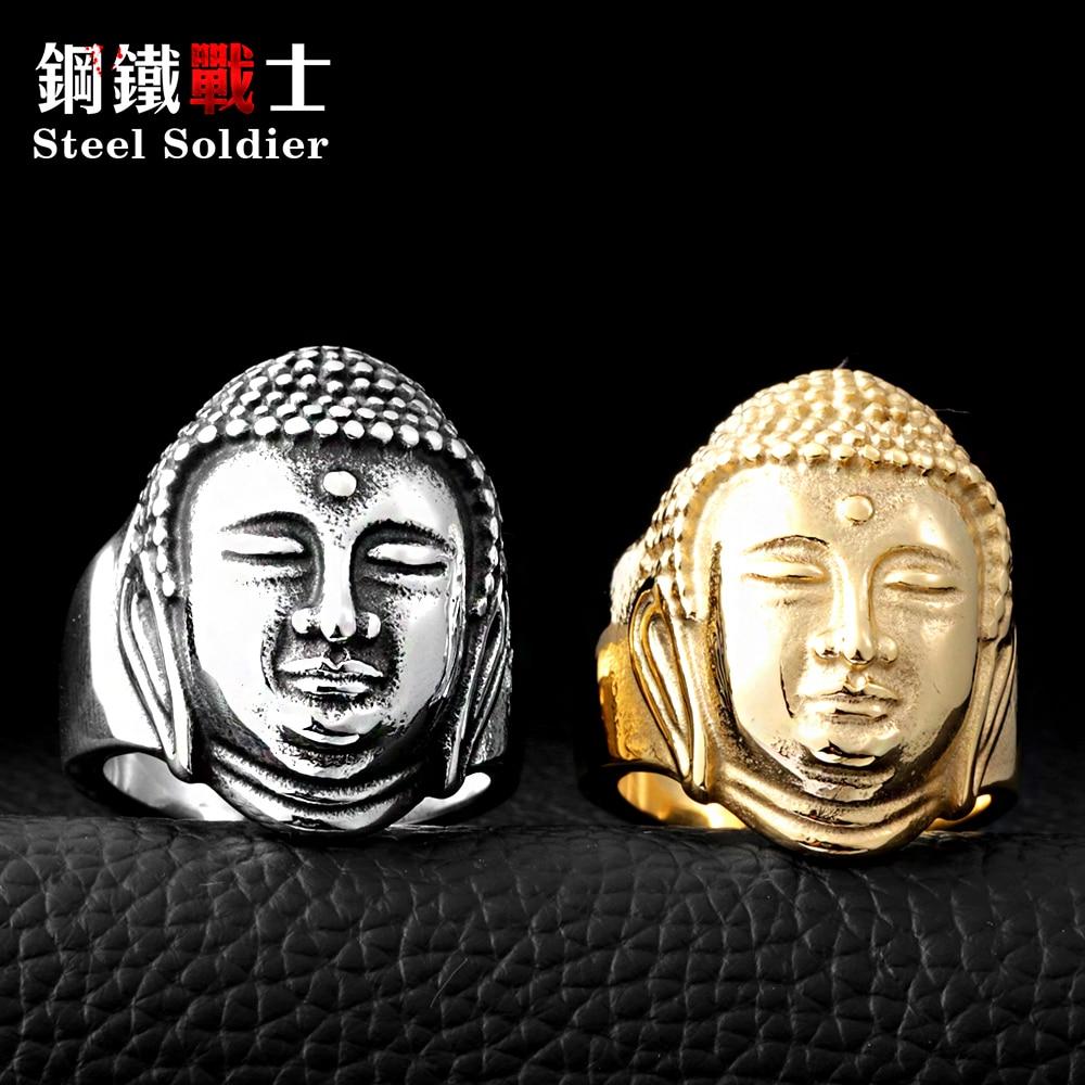 ფოლადის ჯარისკაცი Sakyamuni Buddha - მოდის სამკაულები - ფოტო 3