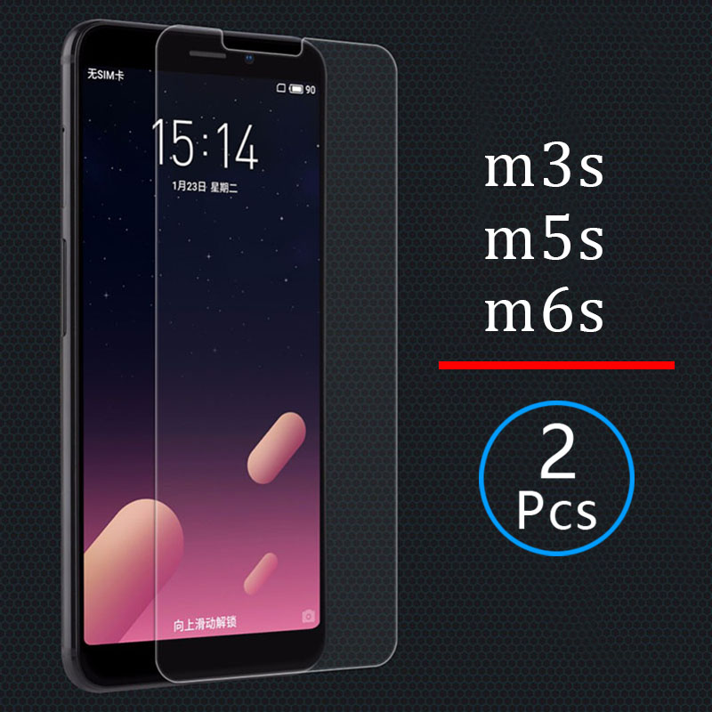 2pcs Tempered Glass for meizu m6s m5s m3s Protective Glas Screen Protector on maisie s6 s5 s3 m 6s 5s 3s m6 m5 m3 s protect film image