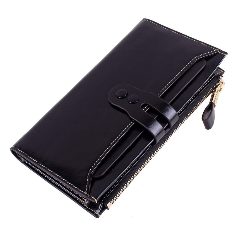 New Large Capacity Wallets Women Wallets Long Wallets Genuine Leather Clutch Coin Card Holder Purse Case Bags brand double zipper genuine leather men wallets with phone bag vintage long clutch male purses large capacity new men s wallets