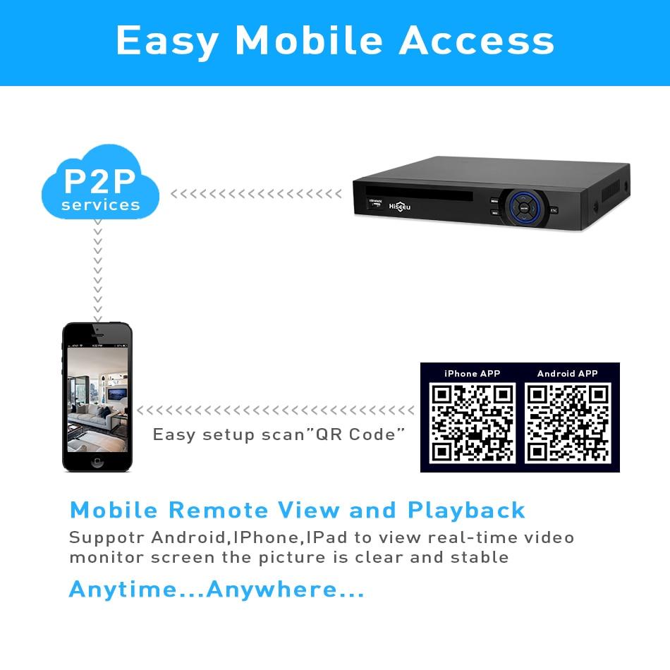 Hiseeu 2HDD 25CH 5MP 32CH 1080P 8CH 4K CCTV H.264 / H.265 NVR DVR - Sigurnost i zaštita - Foto 2