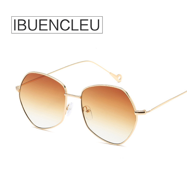IBUENCLEU Fashion Irregular Shape Sunglasses Gradient Lens Clear Lens 9  Colors Oculos De Sol Femenino 66158 13daf4e5af