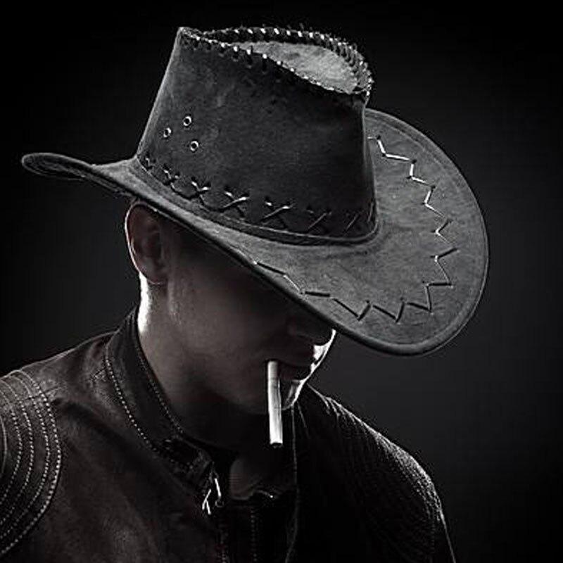 Western Cowboy Hats Travel Caps For Women Men's Caps Hats Suede Vintage Cowgirl Cowboys Unisex Hats Sunscreen Felt Jazz Cap Bone