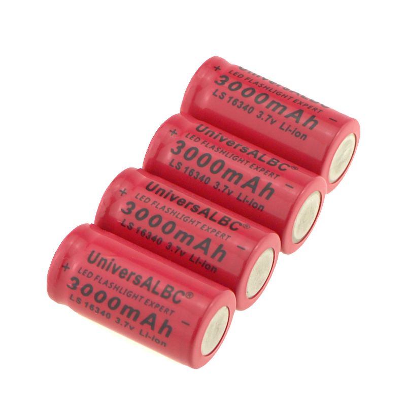 Image 4 - 3000mAh Rechargeable 3.7V Li ion 16340 Batteries CR123A Battery For LED Flashlight Travel Wall Charger For 16340 CR123A Battery-in Rechargeable Batteries from Consumer Electronics