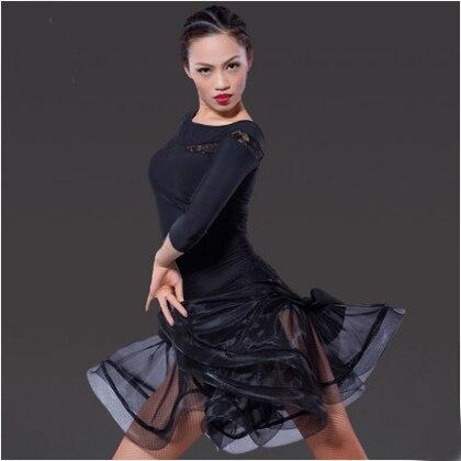 Fustan Vallëzimi Latin Gratë Sexy Ballroom Tango Vallëzimi Vajza - Arte, zanate dhe qepje - Foto 3