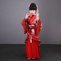 children traditional ancient chinese silk clothing for girls hanfu dance costumes folk costume kids tang fairy dress kid opera