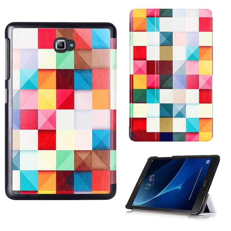 PU Case Cover for Samsung Galaxy Tab A6 10.1 2016 T585 T580 SM-T580 T580N Tablet Protective Skin Shell Funda Case + Stylus Pen case for samsung galaxy tab a a6 10 1 2016 t580 sm t585 t580n cover funda tablet fashion cartoon cat print tpu pu leather shell
