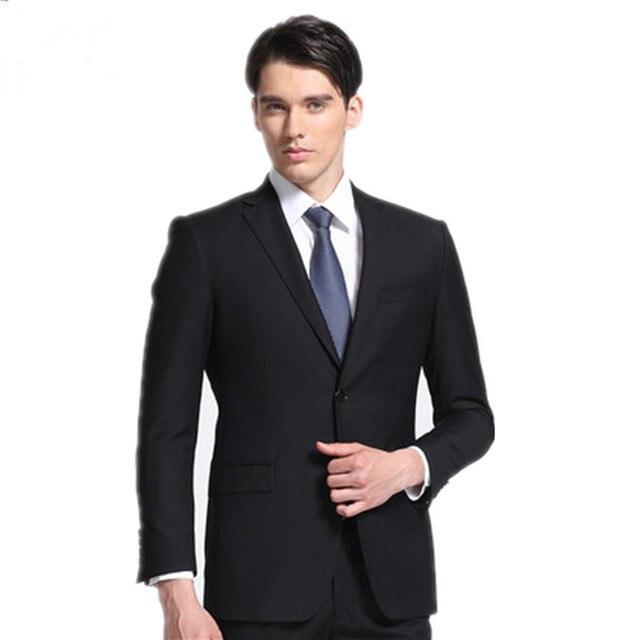 58f76e06d5 Custom Made! High quality Black Groom Tuxedos Best Man Peak Lapel Groomsmen  Men Wedding Suits Bridegroom suits( Jacket + Pants)