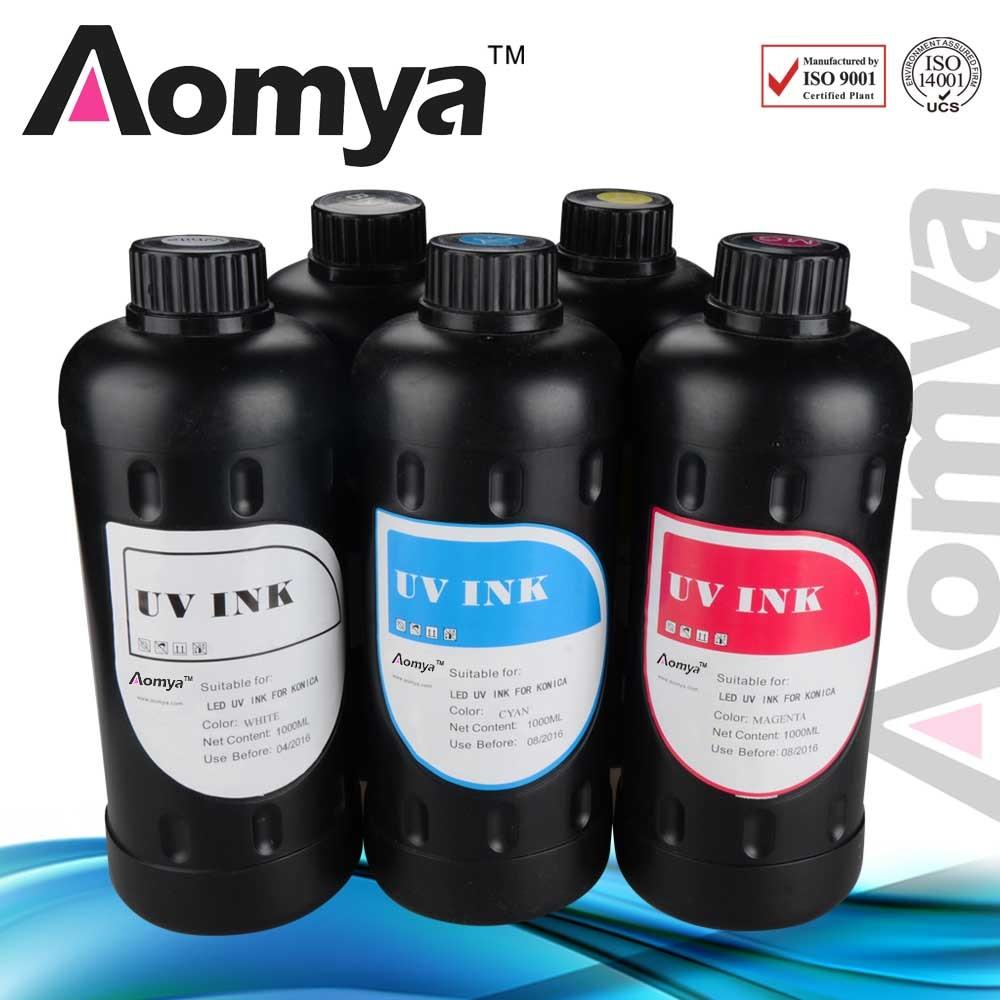 UV Led Ink Random choose color, Aomya specilize production UV LED Ink print on everything, 4x1000ml,