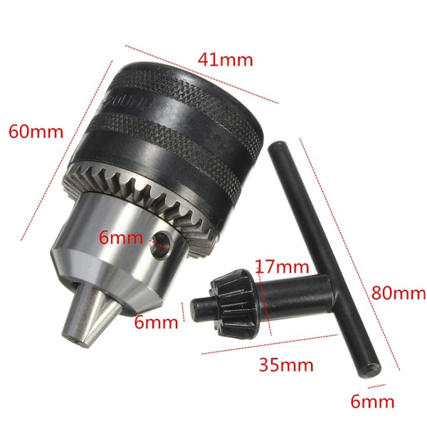 2 Sets Lot 1.5 To 13mm Capacity Heavy Key Type Drill Chuck Adapter for Rotary Hammer Makita Power Tools Accessories Hammer 1 electric hammer drill chuck heavy duty adapter capacity 1 5 13mm 1 2x20unf mount sds plus rod shaft shank driver rotary tool