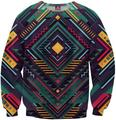 Plus Size S-5XL Men Crewneck Pure Geometry Sweatshirt Casual O-Neck Spring Sweats Hoodies Long Sleeve Outfits Jersry  Tops
