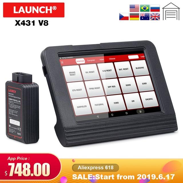 Escáner X431 V de lanzamiento 2018 con Bluetooth/WIFI Android x431 v 8 pulgadas sistema completo de diagnóstico automático del coche- actualización gratuita de herramientas en línea