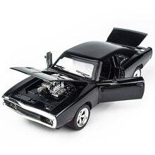 KIDAMI 1:32 alliage moulé sous pression modèles Dodge Charger le véhicule de jouets rapide et furieux pour enfants MINI AUTO classique voitures en métal