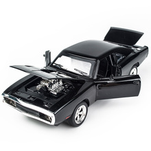 KIDAMI 1:32 modelli pressofusi in lega Dodge Charger il veicolo di giocattoli veloci e scivolosi per bambini MINI AUTO classiche in metallo