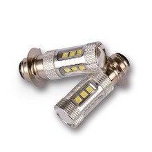 P15D alta Qualidade H6 16-CREE Chips 80 w LED Motor Bike/Moped/Scooter/ATV Lâmpada Do Farol H6 Luz Do Motor do carro