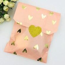 25pcs Blush Pink Foil Gold Heat Candy Gift Paper Bag Wedding Favor Bag Bridal Shower Wedding Birthday Anniversary Kid Treat Bags