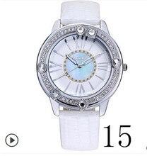 2017 Año Nuevo de la conocida marca de relojes de lujo reloj de las mujeres personas reloj Japón movimiento de cuarzo de sílice pareja envío gratis