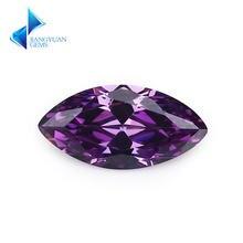 15x3 10x20 мм marquise форма 5a темно фиолетовый cz камень искусственные