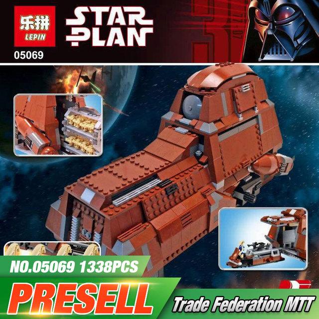 Lepin 05069 New Star War Serie Tanque de Transporte de La Federación Establece MTT Niños Building Blocks Ladrillos Modelo Juguetes Divertidos 7662