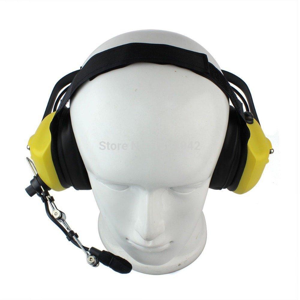 5x Heavy Duty Overhead Headset Boom Mic PTT For Kenwood Puxing Baofeng Radio