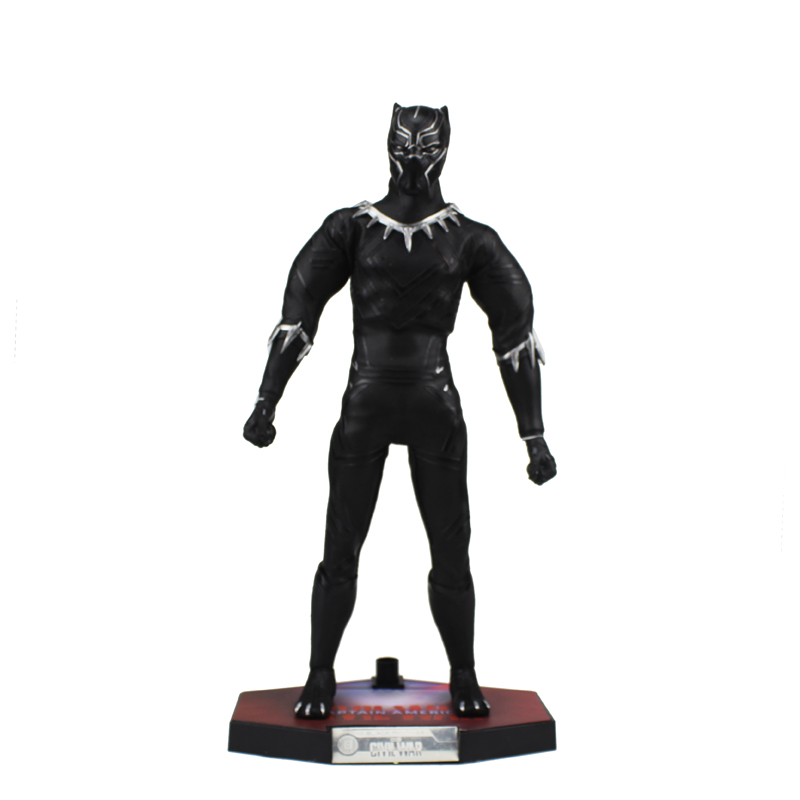 Free Shipping 12 Marvel Hero Infinity War Black Panther Cotton Cloth Moveable Boxed 30cm PVC Action Figure Model Doll Toys Gift lps pet shop toys rare black little cat blue eyes animal models patrulla canina action figures kids toys gift cat free shipping